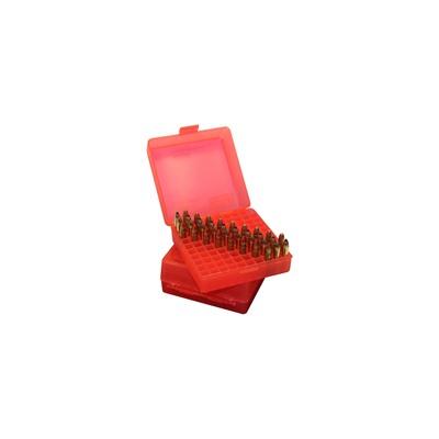 MTM Ammo Box 100 Round Flip-Top 9mm 380 ACP